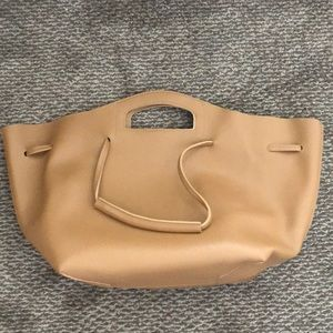 Anthropologie brown shoulder bag with inside pouch